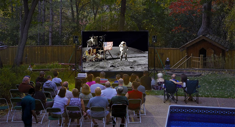 12-Foot Backyard Theater System w/ Optoma 720p Projector Review